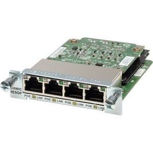 Cisco EHWIC-4ESG 4 Port 10/100/1000 Ethernet Switch Interface Card