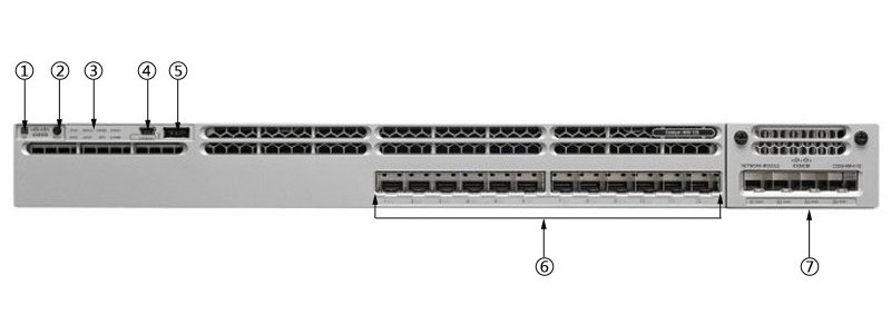 WS-C3850-12XS-S Cisco Catalyst C3850-12XS-S Switch Layer 3 - 12 SFP/SFP+ -  1G/10G - IP Base - Wireless controller - managed- stackable refurbished