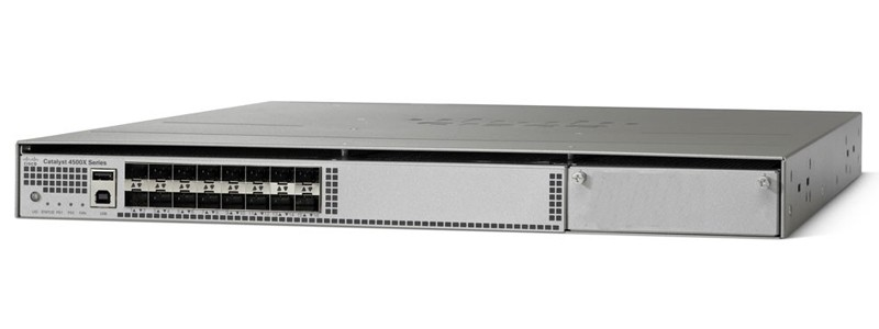 New WS-C4500X-16SFP+ Catalyst 4500-X 16 Port 10G IP Base, Front-to-Back, No  P/S