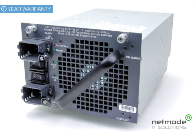 Cisco PWR-C45-6000ACV PoE Power Supply for the Catalyst