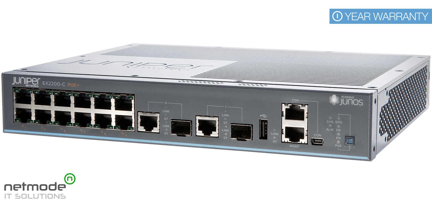 New Juniper Networks EX2200-C-12P-2G EX 2200